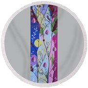 Round Beach Towel featuring the painting Nature's Bounty by Kathleen Sartoris