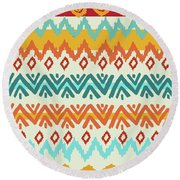 Navajo Mission Round Round Beach Towel