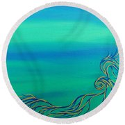 Nerissa Round Beach Towel by Robert Nickologianis