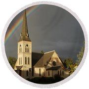 Newman United Methodist Church Round Beach Towel by Mick Anderson