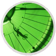 Newt In Magnetic Field Round Beach Towel