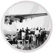 Northrop's Flying Wing Bomber Round Beach Towel