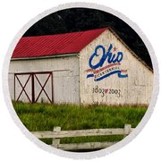 Ohio Bicentennial Barn Round Beach Towel