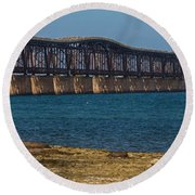 Old Bahia Honda Bridge Round Beach Towel