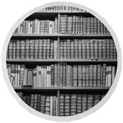 Round Beach Towel featuring the photograph Old Books by Chevy Fleet