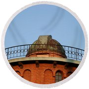 Round Beach Towel featuring the photograph Old Observatory by Henrik Lehnerer