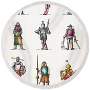 One Knight Stands Round Beach Towel