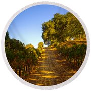 Opolo Winery Round Beach Towel