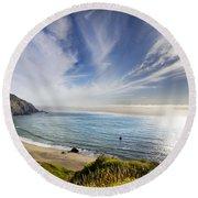Oregon Coastline Round Beach Towel