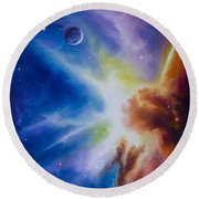 Origin Nebula Round Beach Towel