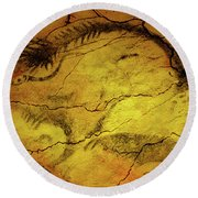 Paleolithic Paintings, Altamira Cave Round Beach Towel