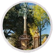Palmetto Regiment Monument  Round Beach Towel by Charles Hite