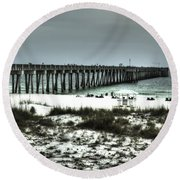 Panama City Beach Round Beach Towel