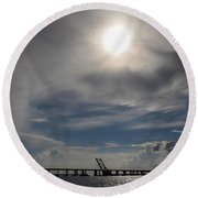Round Beach Towel featuring the photograph Pass Manchac by Charlotte Schafer