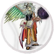 Pelusis God Of Law And Order Round Beach Towel