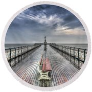 Penarth Pier 4 Round Beach Towel by Steve Purnell