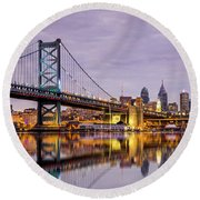 Philly Round Beach Towel