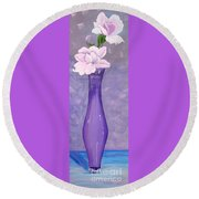Phyl's Roses Round Beach Towel