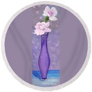 Phyl's Roses Round Beach Towel by Phyllis Kaltenbach