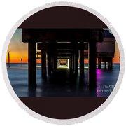 Pier Under II Round Beach Towel