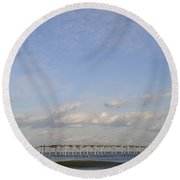Pier Wave Round Beach Towel