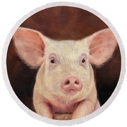 Pig Round Beach Towel