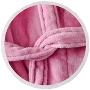 Pink Dressing Gown Round Beach Towel