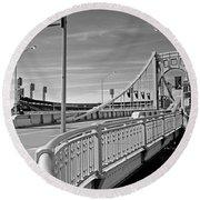 Pittsburgh - Roberto Clemente Bridge Round Beach Towel
