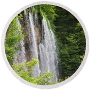 Plitvice Lakes National Park, Lika-senj Round Beach Towel