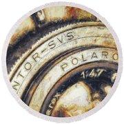 Polaroid Pathfinder  Round Beach Towel