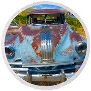 Pontiac Blues Round Beach Towel