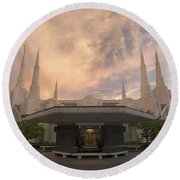 Portland Temple Round Beach Towel