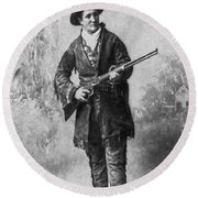 Portrait Of Calamity Jane Round Beach Towel