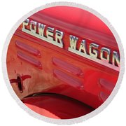 Power Wagon Round Beach Towel by David S Reynolds