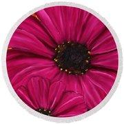Purple Beauty Round Beach Towel by Lourry Legarde