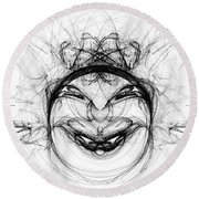 Round Beach Towel featuring the digital art Queen Of Hearts by Jane McIlroy