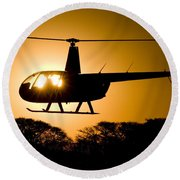 Round Beach Towel featuring the photograph R44 Sunset by Paul Job