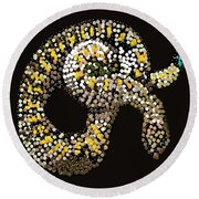 Rattlesnake Bedazzled Round Beach Towel