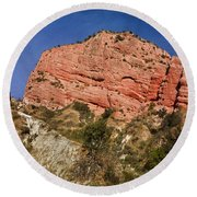 Red Rock Canyon Round Beach Towel