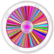 Colorful Signature Art Chakra Round Mandala By Navinjoshi At Fineartamerica.com Rare Fineart Images  Round Beach Towel by Navin Joshi