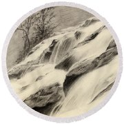 River Stream Round Beach Towel