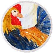 Rooster Round Beach Towel by Carlin Blahnik