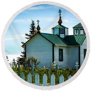 Russian Orthodox Church Round Beach Towel