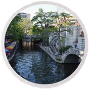 Sa River Walk 2 Round Beach Towel by Shawn Marlow