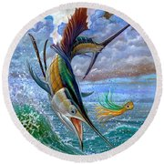 Sailfish And Lure Round Beach Towel