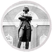 Samuel Adams Statue, State House Boston Ma Round Beach Towel
