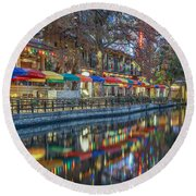 San Antonio Riverwalk Round Beach Towel