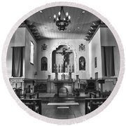 Round Beach Towel featuring the photograph San Carlos Cathedral by Ron White