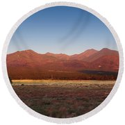 San Francisco Peaks Sunrise Round Beach Towel