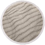 Sand Ripples Abstract Round Beach Towel